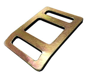 A Gold Colour Flat Stamped Metal Buckles