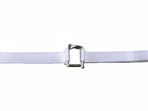 A white colour Polyester Composite Strap