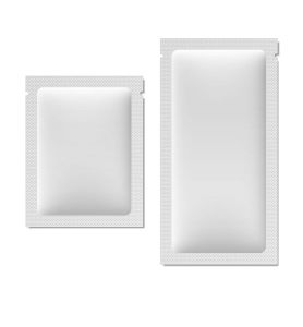 Two White Colour, One Small And other Big In Size, Leak Proof 4 Sided Seal Pouches