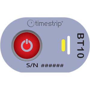 A Grey Blood Temp 10 With A Button To Activate And Two Windows To Indicate Breach And Activation