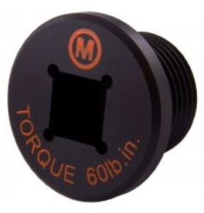A Black Mounting and Blanking Plug