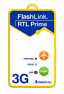 A 3G Delta Trak In-Transit Real Time Loggers Which Has Indication For Flight Mode, Status And Light