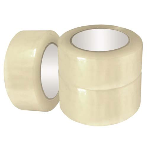 Three OPP Tape Rolls Stacked Together From Different Angles