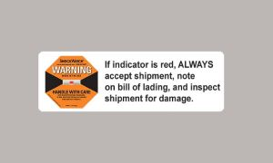 Alert Sticker To Deter Mishandling And Indicate When Product Has Been Exposed To Impact During Transit