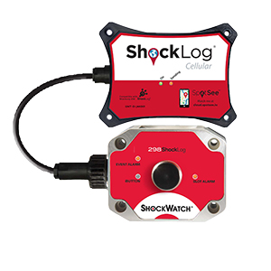 Shocklog® Cellular Attached To Shocklog® 298 Impact Recorder