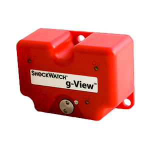 A Red Colour Shockwatch® G-View Impact Data Logger