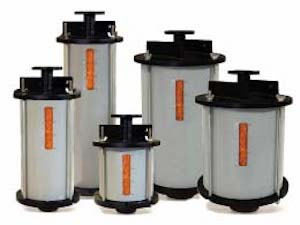 Five Transformer Breathers of Different Sizes Filled With Silica Gel Desiccant