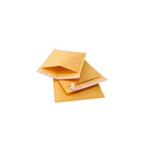 Three Brown Envelope, Cushioned Inside With Bubble Wrap, Equipped With A Pressure-Sensitive Or Gummed Adhesive Integral Flap