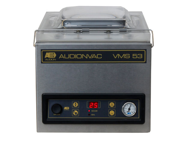 Tabletop Chamber Vacuum Sealers with a transparent lid with a deep drawn stainless steel chamber & a digital control