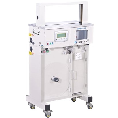 High Table Banding Machine, featuring a control panel with auto, manual & pedal switch mode